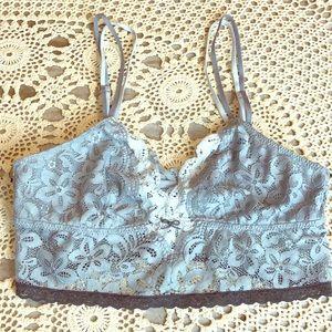 aerie gray Lace Bralette